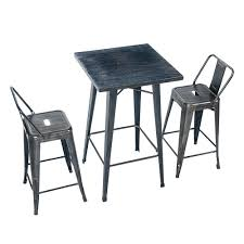 Pub Table Ikea by Amazon Com Merax Rectangular Distressed Metal Bar Table Pub
