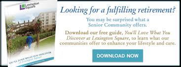 Senior Comfort Guide Services U0026 Amenities Lexington Square Senior Living Community