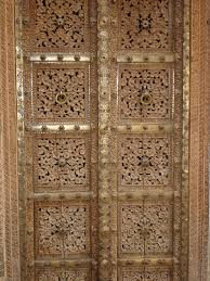 hand crafted doors in wood and brass rajasthan india india my