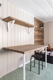Plans For Wooden Shelf Brackets by Simple Diy Wall Desk Shelf U0026 Brackets For Under 23 Jenna