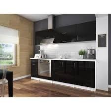 meuble cuisine noir laqué meuble cuisine city achat vente pas cher