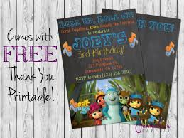 beat bugs birthday invitation printable by jennacspaperie