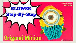 3d origami beginner tutorial origami 3d minion 3d origami paper minion tutorial step by step