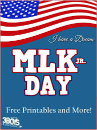 dr martin luther king jr day free printables u2013 3 boys and a dog