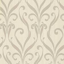 medusa taupe swirl modern damask wallpaper contemporary