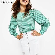 mint blouse arrival casual striped shirt sleeve poplin