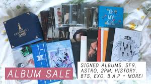 photo albums for sale k pop album sale signed albums sf9 astro 2pm history bts