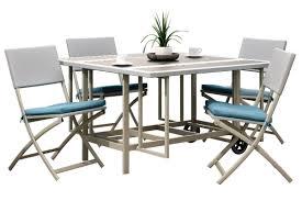 nantucket 5 piece stowable folding patio dining set