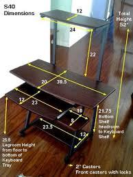 Movable Computer Desk S 40 40
