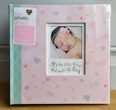 baby girl photo album new cr gibson hearts pink baby girl large photo album