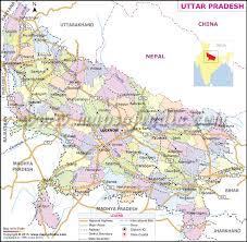 road map up uttar pradesh map