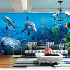 chambre aquarium personnalisé photo papier peint personnalisé fond marin monde grande