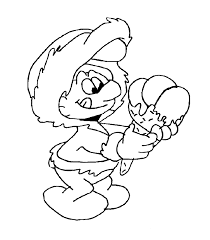 smurf coloring pages to print coloring home