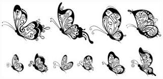 butterfly side view stock illustrations 260 butterfly side view