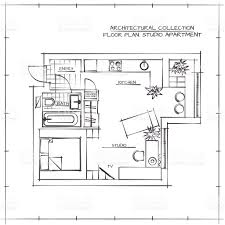 dimensioned floor plan dimensioned studio apartment blueprints interiors and decor