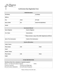 online confirmation class fillable online stapostleparish confirmation class registration