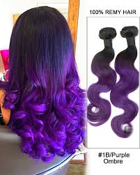 purple hair extensions black purple ombre weave wave weft remy human hair extensions