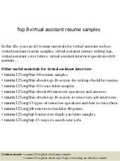 top 5 virtual assistant cover letter samples