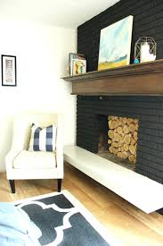 painted brick fireplace wall ideas white dark walls painting