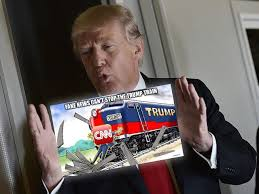 Air Force One Meme - reporters horrified after president shares meme of trump train