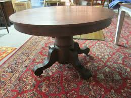 Antique Furniture Dining Room Set by Antique Round Tiger Oak Table W 3 Leafs Ebay Housewares