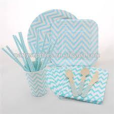 wholesale chevron paper plates napkins cups straws wooden cutelery
