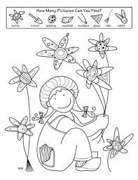 spring activity coloring pages spring activities 5 numbers
