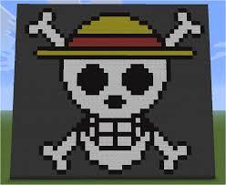 minecraft pixel art straw hat crew flag by aurora bloodshard on