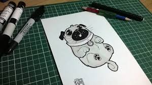 pug sketch by cesarvs on deviantart
