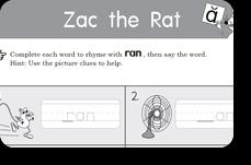 starfall zac the rat printable