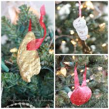 fireflies and jellybeans easy shell christmas ornament 15 minute