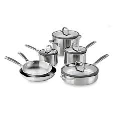 Calphalon Stainless Steel Toaster Simply Calphalon Easy System Stainless Steel 10 Piece Cookware