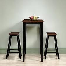 sauder kitchen furniture sauder beginnings 3 cherry and black bar table set 416519