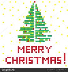 retro game christmas tree u2014 stock photo richcat 133861716