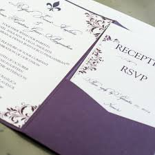 pocket fold plum flourish pocket fold wedding invitations chic