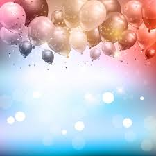 celebration background of balloons and confetti vector free