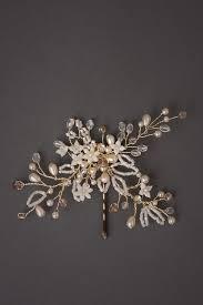 bridal hair pins josefine beaded gold bridal hair pin