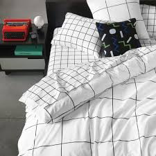 grid black duvet cover share your style or the look unisonhome upload