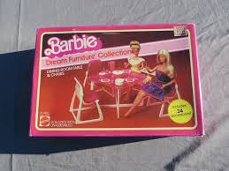 barbie dream furniture collection dining room table and chairs