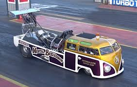 black volkswagen bus mental breakdown 1700bhp vw bus dragster 7 6 182mph youtube