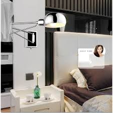 Wall Mounted Reading Light Bedroom Chrome Wall Sconce Bedside Wall Fixtures Lighting For Bedroom