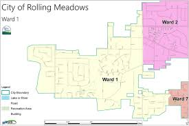 Chicago Wards Map by Mike Cannon 1st Ward Alderman Rolling Meadows Il Official
