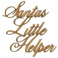wood words santas helper wood word cut outs in ancestry font