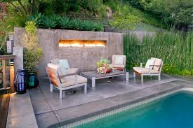 outdoor living simple fire pit seating idea with round senter