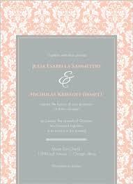 Damask Wedding Invitations Peach And Grey Damask Wedding Invitation Wedding Invitations