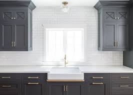 Black Cabinets White Countertops New Kitchen Trend Dark Cabinets Subway Tile U0026 Shiplap Home
