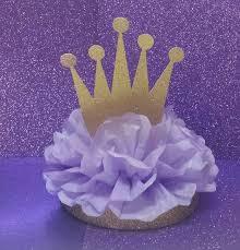 crown tiara glitter centerpiece gold purple or lavender so pretty