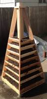 How To Build A Vertical Garden - vertical garden pyramid tower plans home outdoor decoration