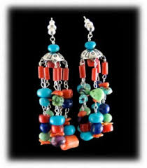 Beaded Turquoise Chandelier Turquoise Chandelier Earrings Quality Turqoise Earrings By
