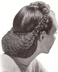 crochet band vintage crochet pattern to make snood hair net looped band